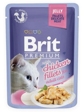 BRIT POUCH JELLY FILLETS WITH CHICKEN 85 g